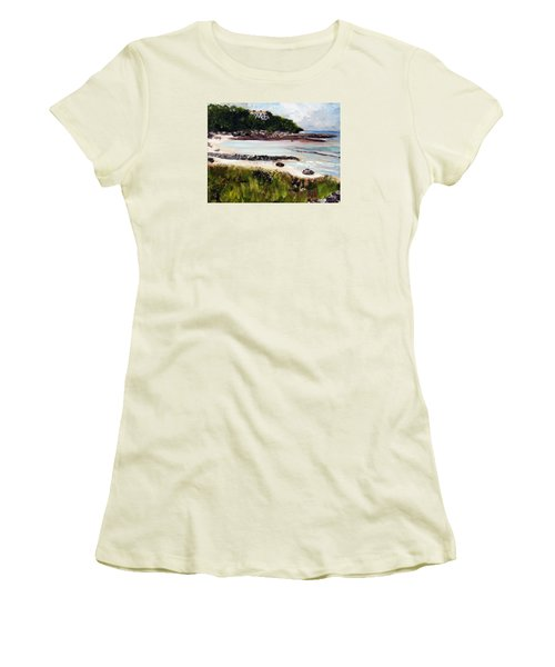Old Silver Beach Falmouth Women's T-Shirt (Junior Cut) by Michael Helfen