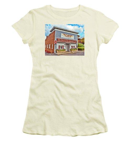 Old Town Hall Blacksburg Virginia Est 1798 Women's T-Shirt (Junior Cut) by Kerri Farley