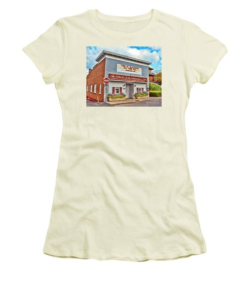 Old Town Hall Blacksburg Virginia Est 1798 Women's T-Shirt (Athletic Fit)