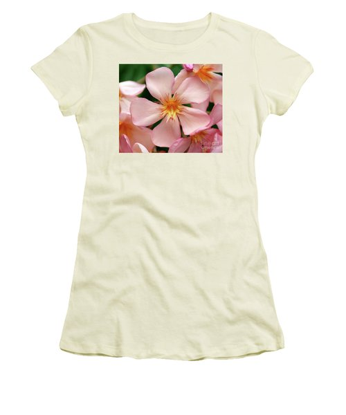 Women's T-Shirt (Junior Cut) featuring the photograph Oleander Dr. Ragioneri 1 by Wilhelm Hufnagl