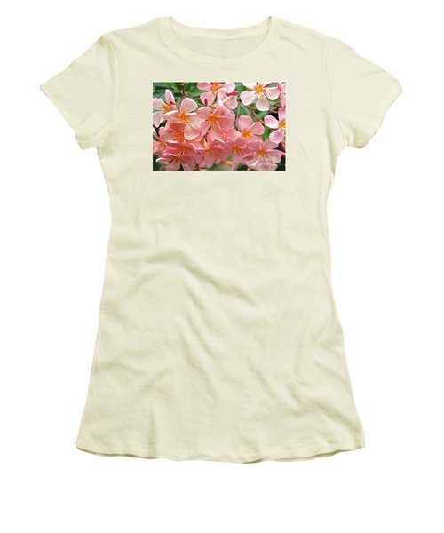 Women's T-Shirt (Junior Cut) featuring the photograph Oleander Dr. Ragioneri 5 by Wilhelm Hufnagl