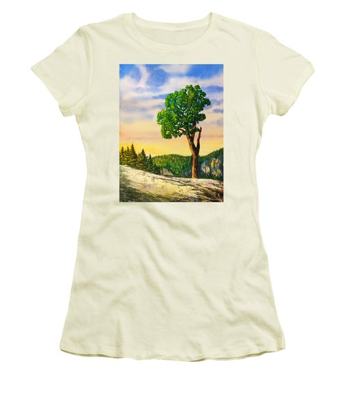 Olmsted Point Tree Women's T-Shirt (Junior Cut) by Douglas Castleman