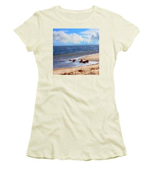 On A Clear Day Women's T-Shirt (Junior Cut) by Judy Palkimas