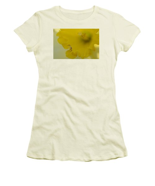 On The Edge Women's T-Shirt (Junior Cut) by Janet Rockburn