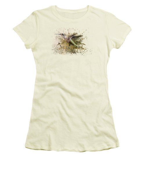 On The Fly Hummingbird Art Women's T-Shirt (Athletic Fit)
