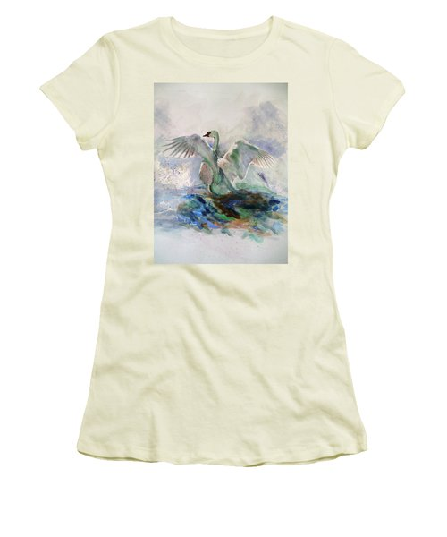 On The Water Women's T-Shirt (Junior Cut) by Khalid Saeed