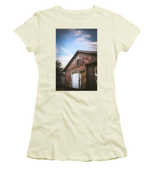 Women's T-Shirt (Junior Cut) featuring the photograph Once Industrial - Series 1 by Trish Mistric