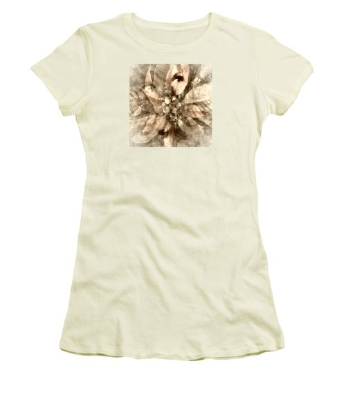 Once Upon Grandmom's Poinsettia Women's T-Shirt (Athletic Fit)