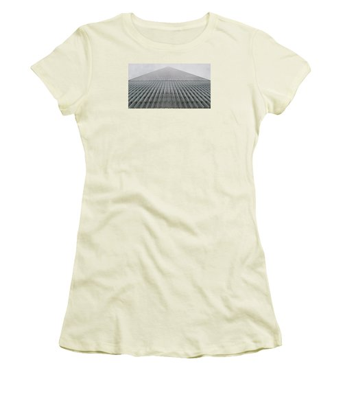 One World Trade Women's T-Shirt (Junior Cut) by Christopher Kirby