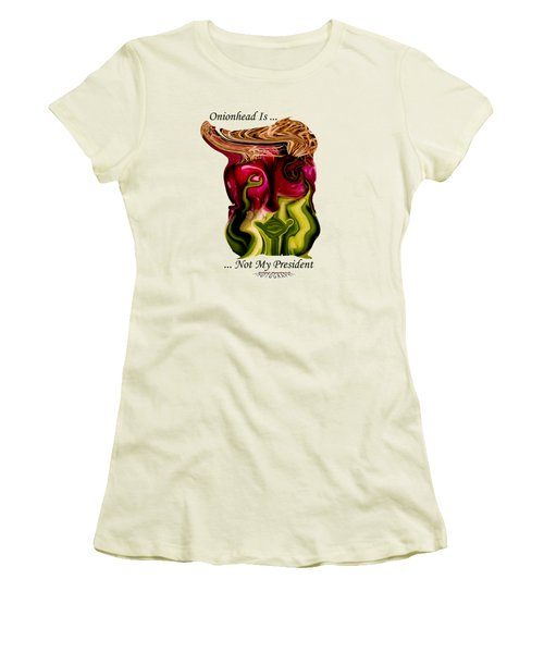 Onionhead Transparency Women's T-Shirt (Junior Cut) by Robert Woodward
