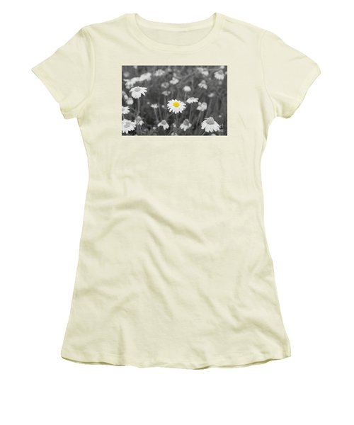 Women's T-Shirt (Junior Cut) featuring the photograph Oopsy Daisy by Benanne Stiens
