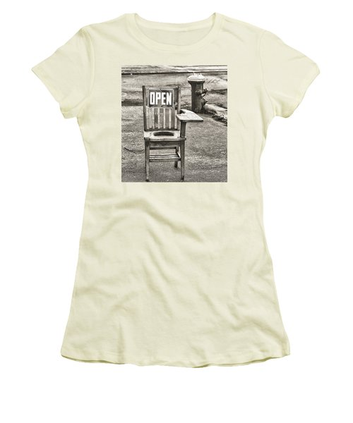Open Women's T-Shirt (Junior Cut) by Jeffrey Jensen