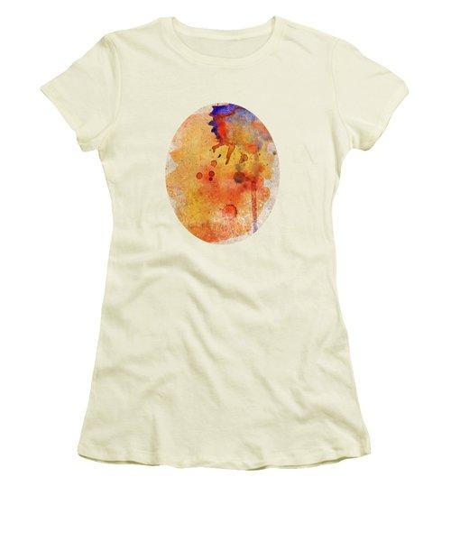 Orange Color Splash Women's T-Shirt (Athletic Fit)