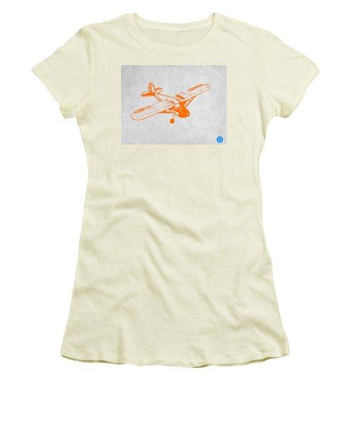 Orange Plane 2 Women's T-Shirt (Junior Cut) by Naxart Studio