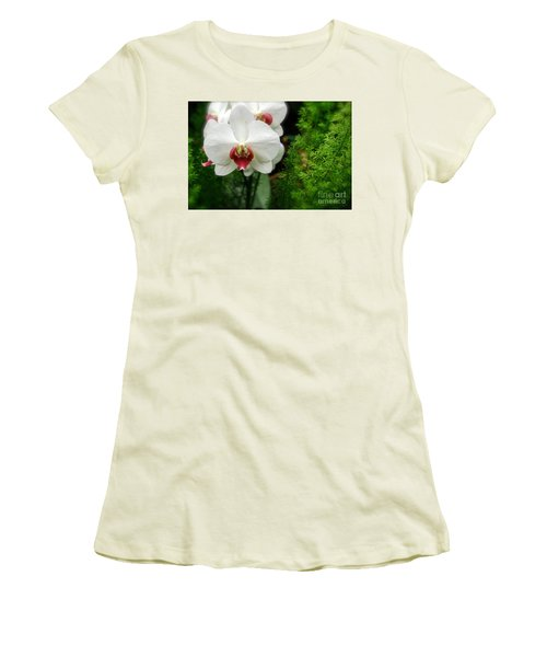Women's T-Shirt (Junior Cut) featuring the photograph Orchid White by Brian Jones