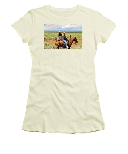 Women's T-Shirt (Junior Cut) featuring the photograph Oregon Cowboys by Michele Penner