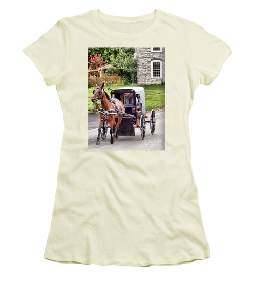 Women's T-Shirt (Junior Cut) featuring the photograph Ornery by Polly Peacock