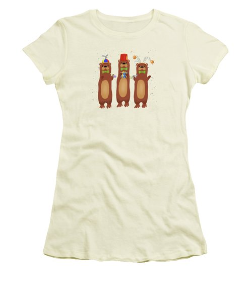Otter Party And You Are Invited Women's T-Shirt (Junior Cut) by Little Bunny Sunshine