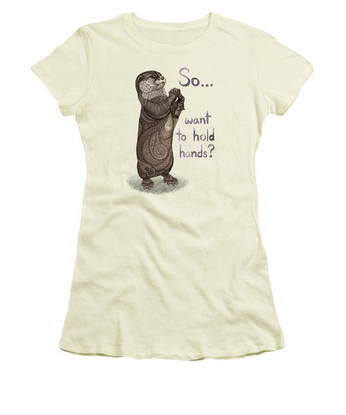 Otter Valentine Women's T-Shirt (Athletic Fit)