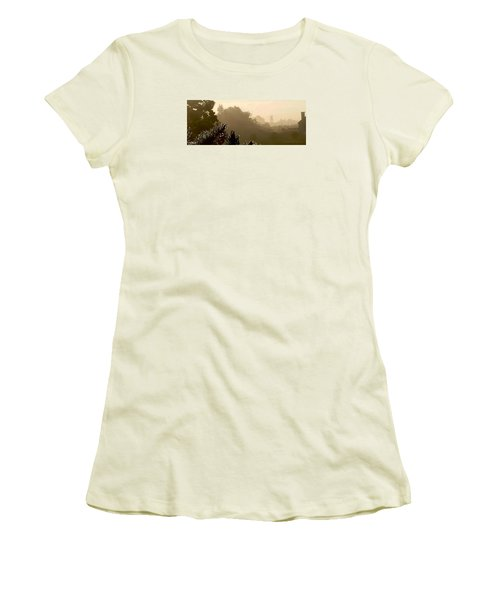 Out The Front Door Women's T-Shirt (Junior Cut) by Steven Lebron Langston