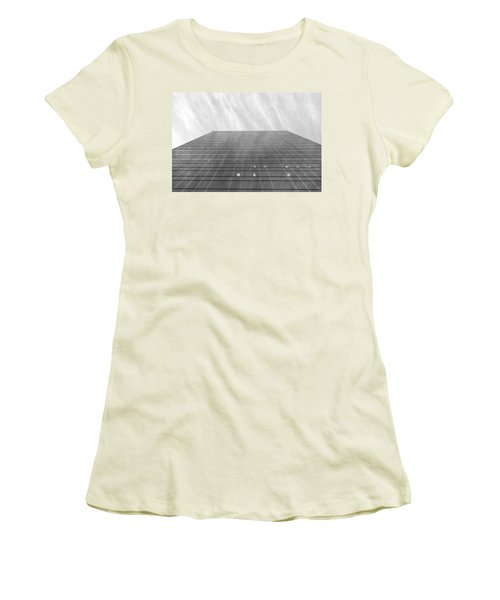 Women's T-Shirt (Junior Cut) featuring the photograph Over The City by Valentino Visentini