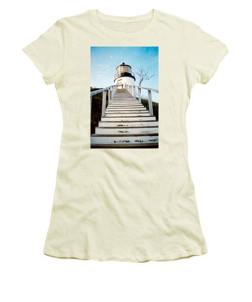 Owl's Head Light Women's T-Shirt (Junior Cut) by Greg Fortier