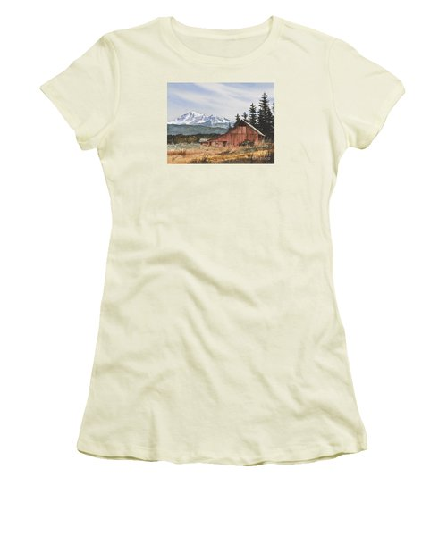Pacific Northwest Landscape Women's T-Shirt (Junior Cut) by James Williamson