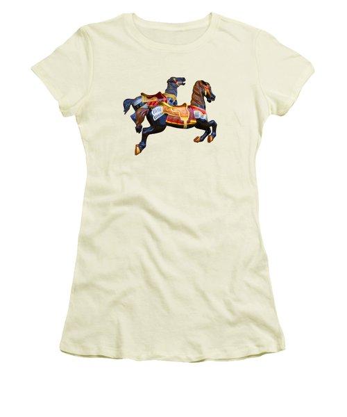 Painted Ponies Women's T-Shirt (Junior Cut) by John Haldane