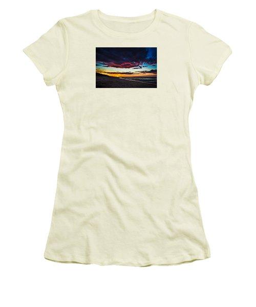 Painted Sky Women's T-Shirt (Junior Cut) by Peter Scott