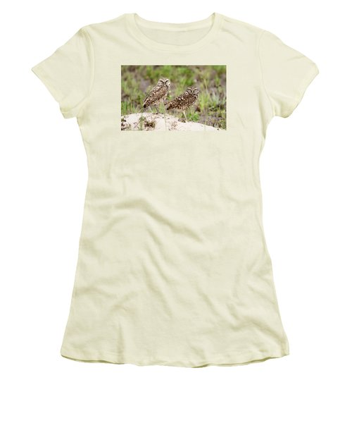 Pair Of Burrowing Owls Women's T-Shirt (Athletic Fit)
