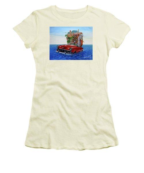 Paisaje Pasado Por Agua Women's T-Shirt (Junior Cut) by Jorge L Martinez Camilleri