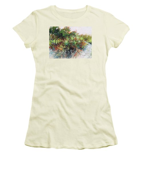 Palmetto Dance Women's T-Shirt (Junior Cut) by Mary Hubley