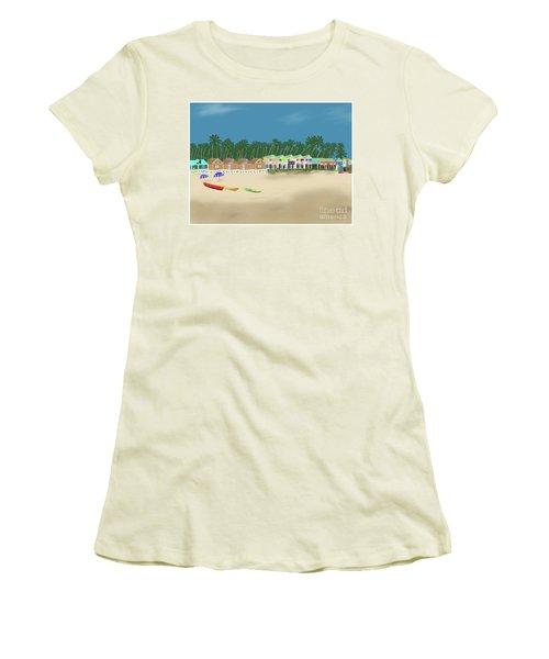 Palolem Beach Goa Women's T-Shirt (Athletic Fit)