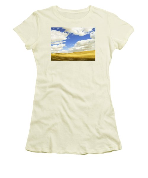 Palouse Valley Women's T-Shirt (Junior Cut) by Anne Mott