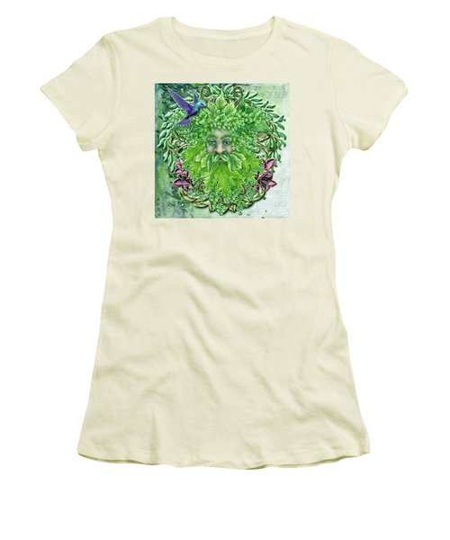 Women's T-Shirt (Junior Cut) featuring the digital art Pan The Protector by Angela Hobbs