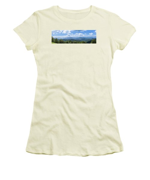Panorama Of The Foothills Of The Pyrenees In Biert Women's T-Shirt (Junior Cut) by Semmick Photo