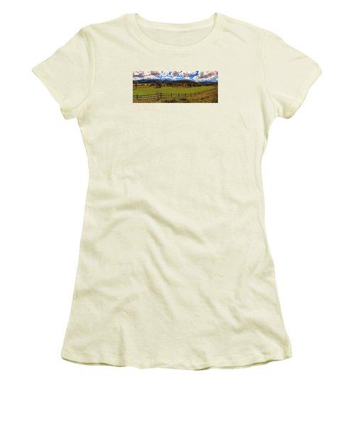 View Of The San Juans Women's T-Shirt (Junior Cut) by Rick Furmanek