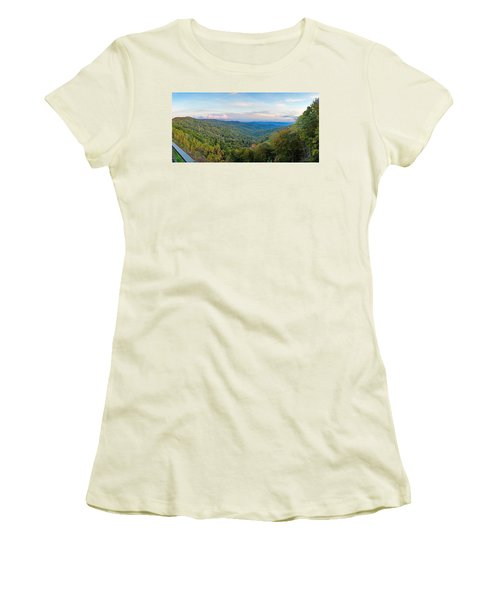 Panoramic October Views Of Smokey Mountain National Park Women's T-Shirt (Athletic Fit)