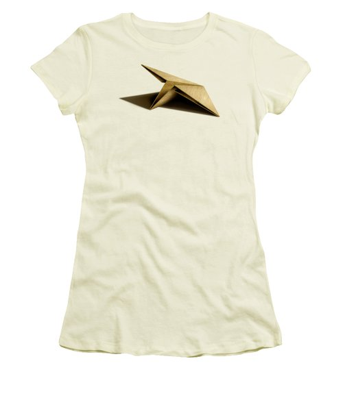 Women's T-Shirt (Junior Cut) featuring the photograph Paper Airplanes Of Wood 7 by YoPedro