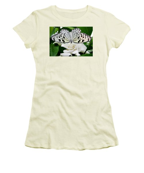 Paperkite On Gardenia Women's T-Shirt (Athletic Fit)