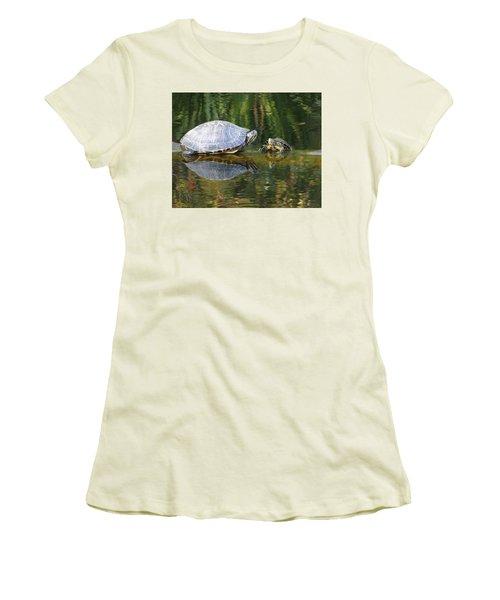 Parental Advice Women's T-Shirt (Junior Cut) by Cindy Croal