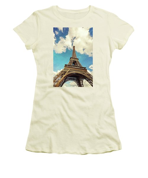 Paris Photography - Eiffel Tower Women's T-Shirt (Athletic Fit)
