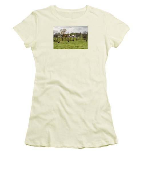 Women's T-Shirt (Junior Cut) featuring the photograph Pastoral by Larry Ricker