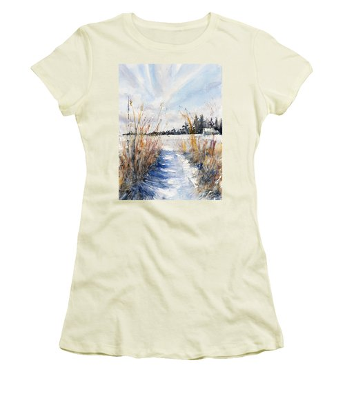 Path Shadows In The Way Back Women's T-Shirt (Athletic Fit)
