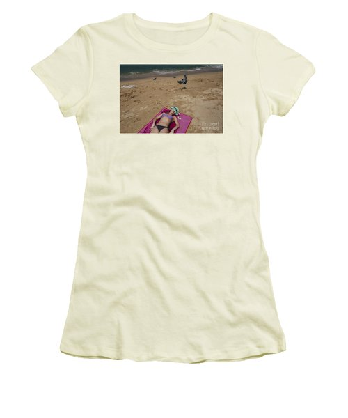 Women's T-Shirt (Junior Cut) featuring the photograph Pattaya Beach by Setsiri Silapasuwanchai