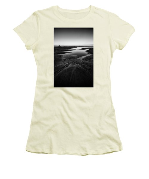 Women's T-Shirt (Junior Cut) featuring the photograph Patterns In The Sand by Jon Glaser