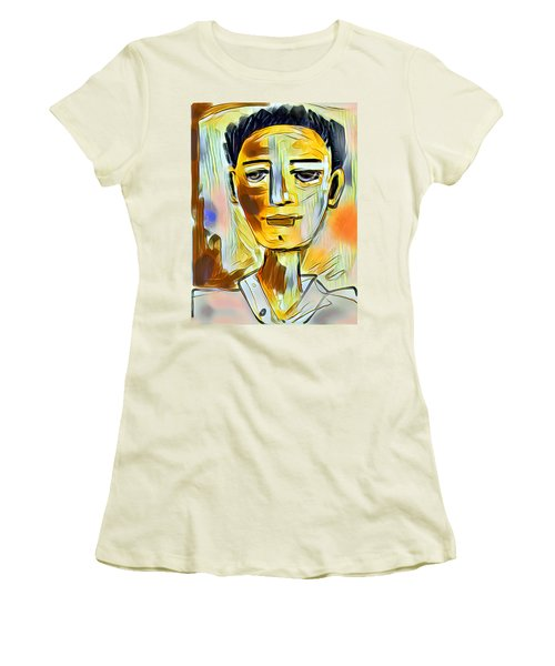 Women's T-Shirt (Junior Cut) featuring the digital art Pauls Portrait by Elaine Lanoue