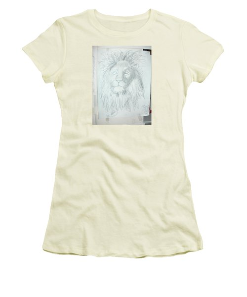 Women's T-Shirt (Junior Cut) featuring the drawing Peace In The Valley by Sharyn Winters