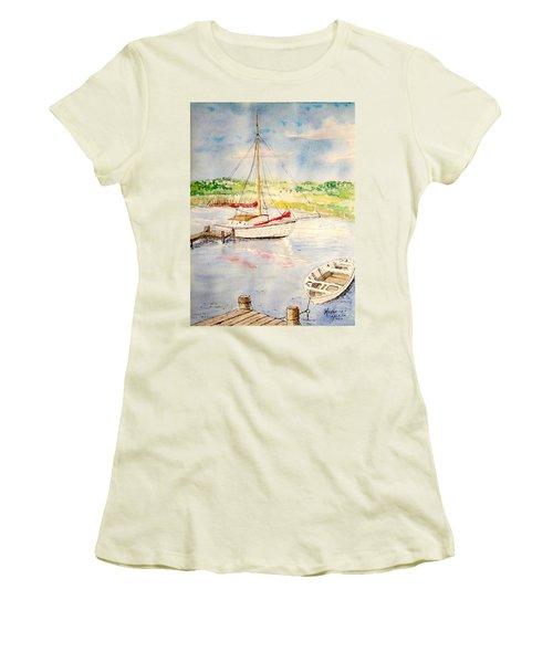 Peaceful Harbor Women's T-Shirt (Junior Cut) by Marilyn Zalatan