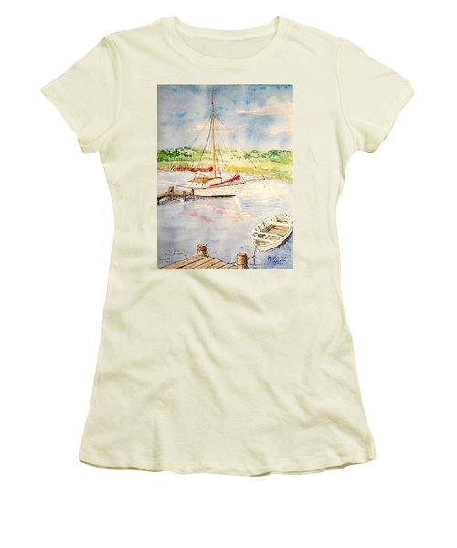 Peaceful Harbor Women's T-Shirt (Athletic Fit)